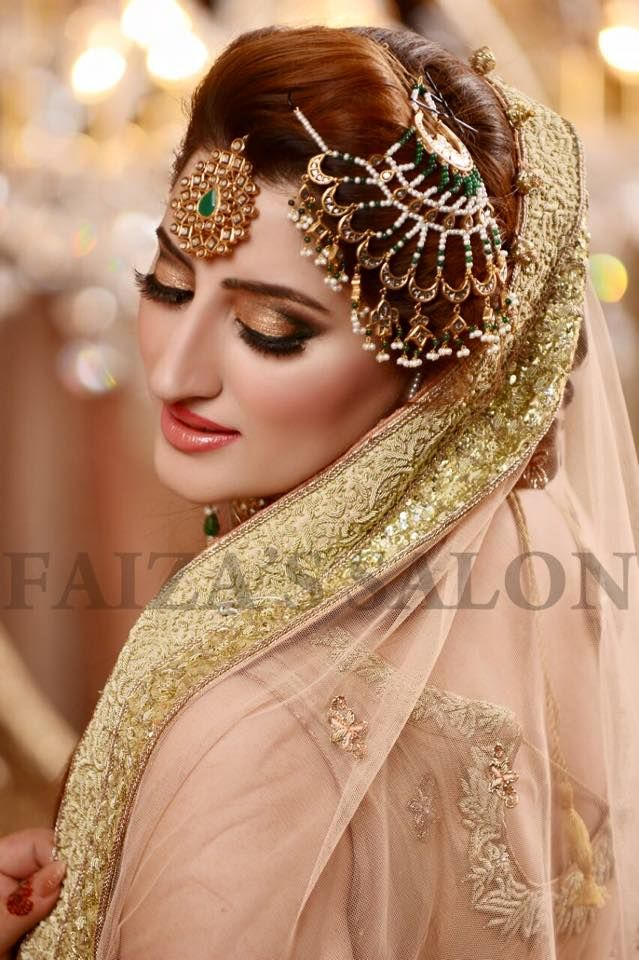 Valima bride makeup by Faiza's salon | Jewellery | Beautiful bridal dresses, Pakistani bridal makeup, Indian bridal hairstyles