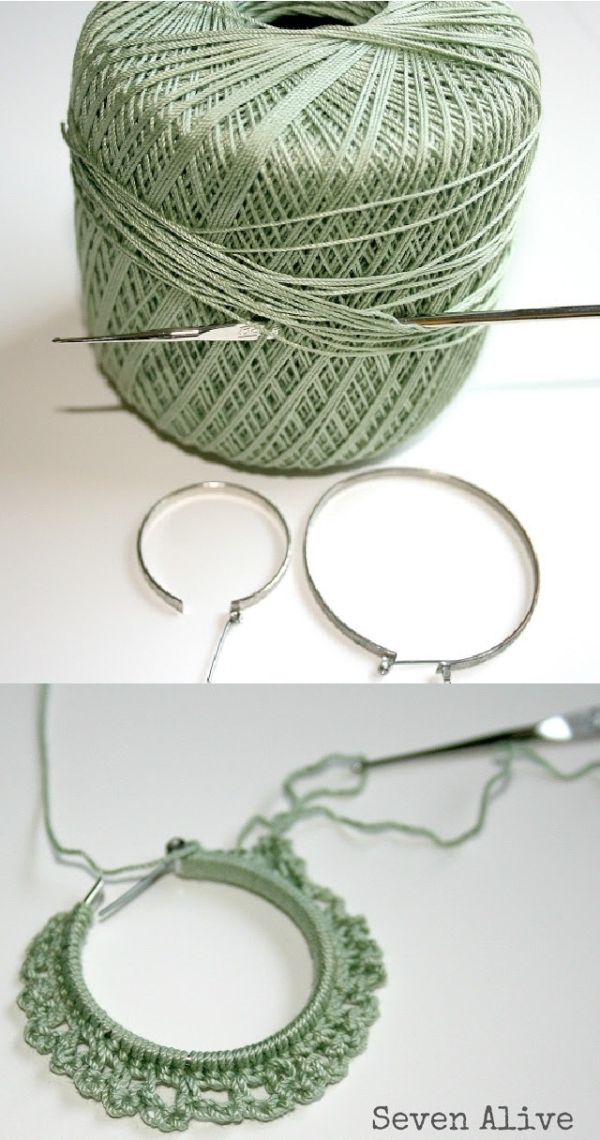 Crocheted earrings tutorial by gay