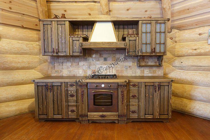 Кухня в деревенском стиле из сосны