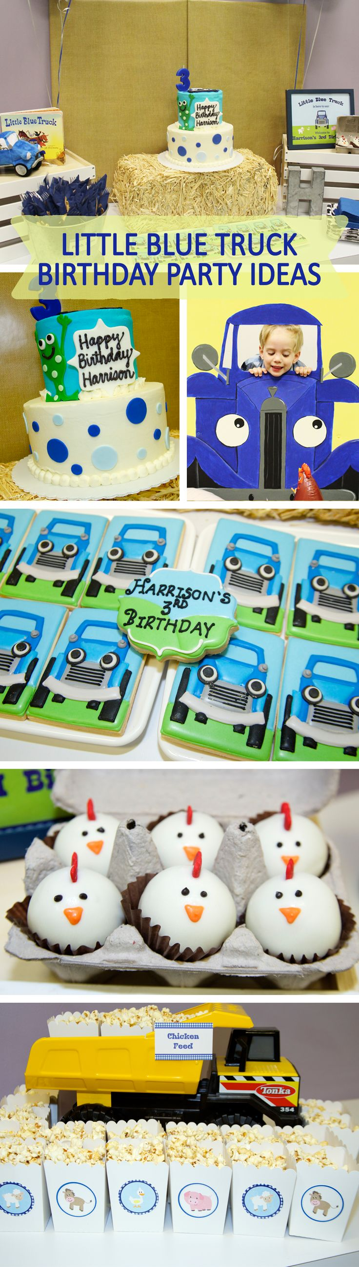 Little blue truck brithday party ideas, Little blue truck birthday theme party…