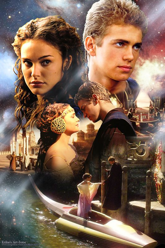Anakin & Padme Attack of the Clones Poster   http://erikasartzone.wordpress.com/
