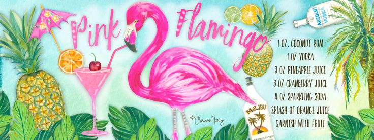 Pink Flamingo Cocktail by Corinne Haig