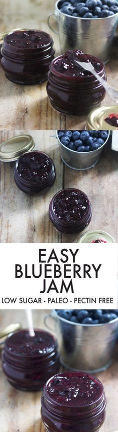 Easy Blueberry Jam {Low-sugar, pectin-free}   Lexi's Clean Kitchen