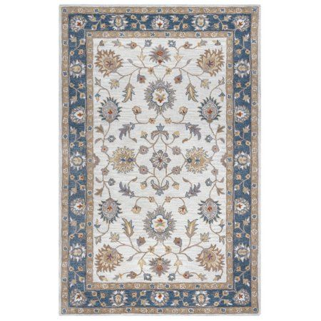 Rizzy Home Valintino Hand-Tufted Area Rug 8 Ft. X 10 Ft. Brown Model VNTVN970900420810, Blue