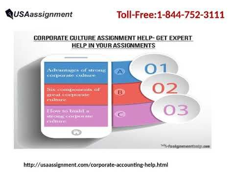Corporate Accounting Assignment Help and Assignment Writing