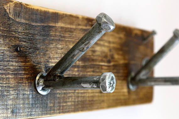 Industrial Coat Hooks Rustic Coat Rack Handmade Rustic Key Coat