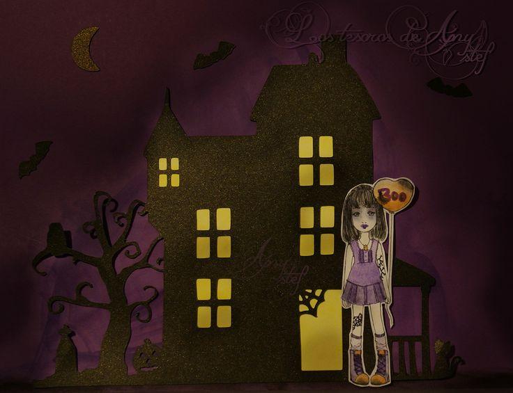 Mansión encantada de Halloween con digi de Zuri #scrap #silhouette #cameo #troquel #zuri #digi #diy #halloween http://lostesorosdeanystef.blogspot.com.es/2015/10/mansion-encantada-de-halloween.html