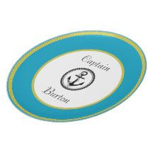 """Captain's-Plates-TEMPLATE 2-_Tropic-Blue & White Dinner Plate"