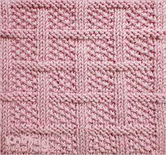 Treliça com ponto de semente - Padrão de tricô quadrado | Combinações de malha e Purl