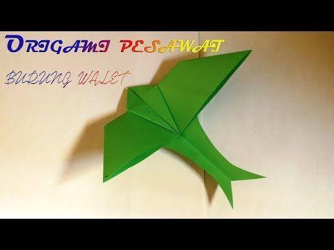 Cara Membuat Origami Pesawat Burung Walet Terbang Lama Youtube Origami Burung Walet Burung
