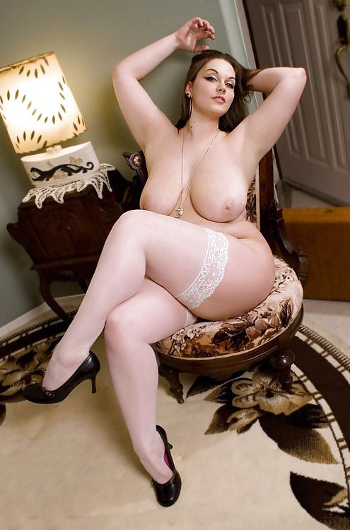 Chubby in stockings