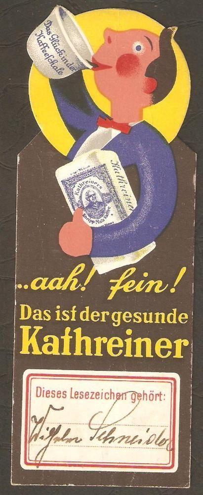 Vintage German Bookmark Kathreiner Kneipp Malzkaffee