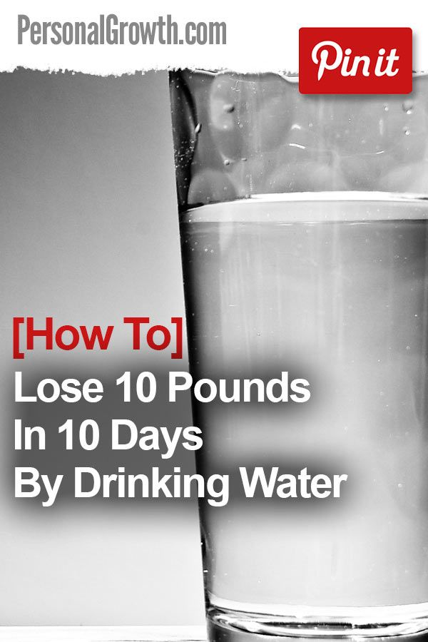 how to lose weight with water in a week
