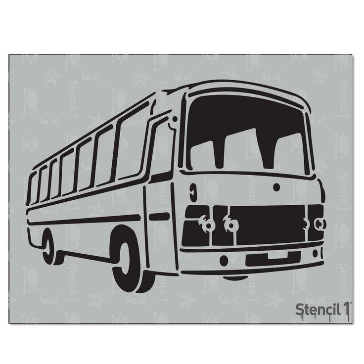 Stencil1 Retro Bus Stencil