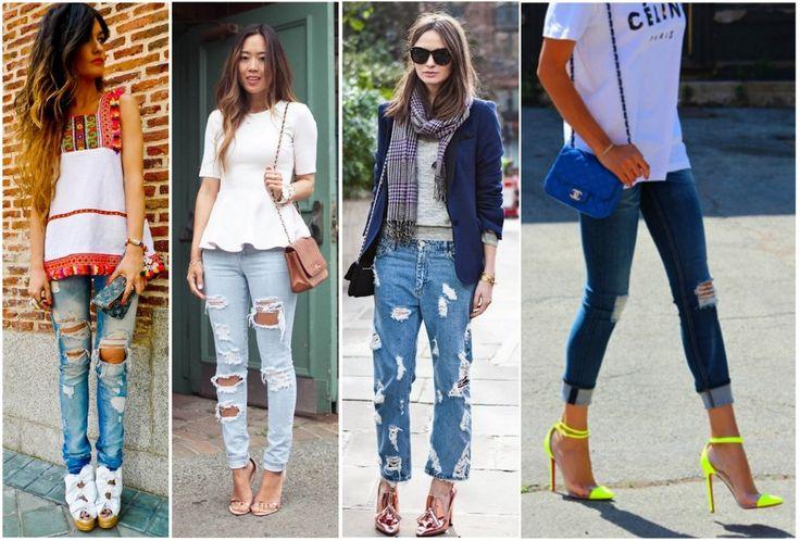 Destroyed Jeans: Tendência da Calça Rasgada - Site de Beleza e Moda