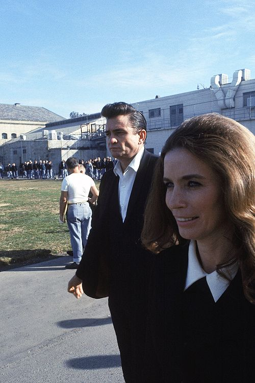 Johnny Cash and June Carter at Folsom Prison, January 13, 1968.
