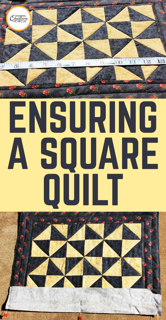 """Do you want a """"square quilt""""? That is not to say that your quilt is literally a square shape (unless of course you want it to be a square shape); what this means is that your quilt will lie perfectly flat with no puckers, tucks, or unwanted pleating after it has been quilted. So how do you achieve this? Here are some helpful hints."""