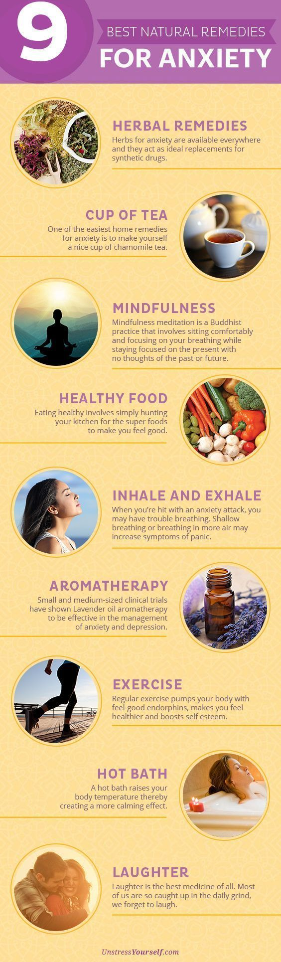 Best Natural Remedies for Anxiety I've recently started drinking Kava tea. I found it at local organic/health food store, it's a Yogi brand tea. I've found it t