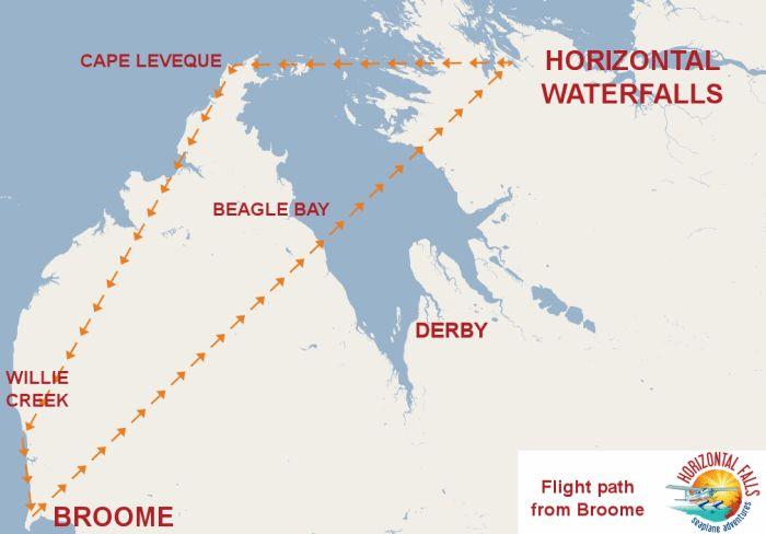 Map of Horizontal Falls Kimberley's Western Australia