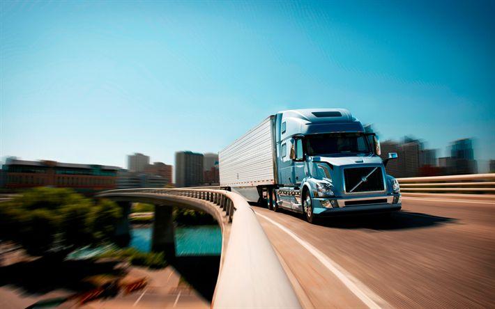 Descargar fondos de pantalla Volvo VNL, 2017, Nuevos camiones, camiones, sueco, Volvo
