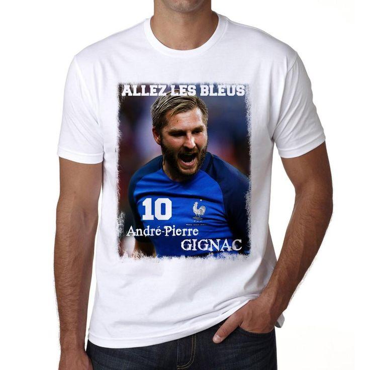 André-Pierre GIGNAC, France, Les Bleus T-shirt, Euro 2016 Tshirt, Men's White tee, 100% Cotton
