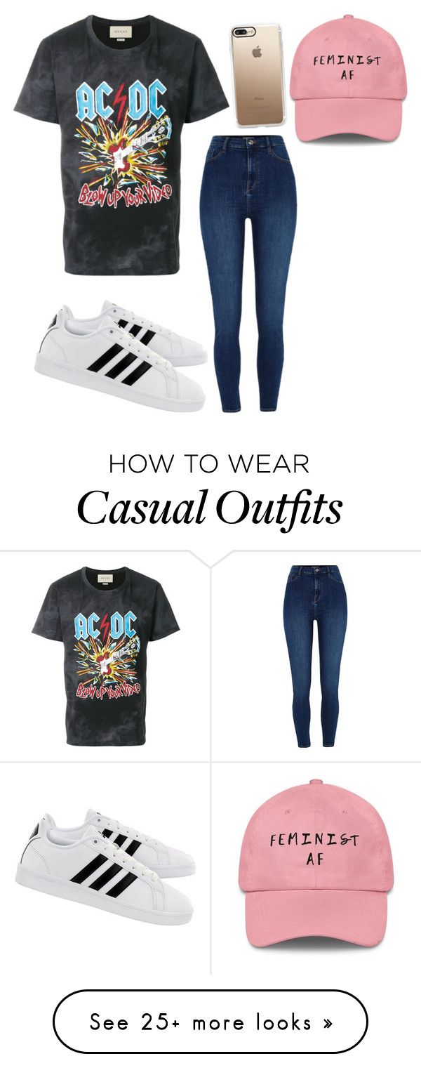 """Rocky Casual"" by mccunej on Polyvore featuring Gucci, River Island, adidas and Casetify"