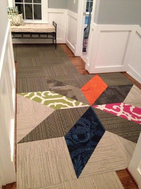 Idea For Delineating A Space While Allowing It To Flow Into Another Buy Lacebark Pearl Carpet Tile By FLOR