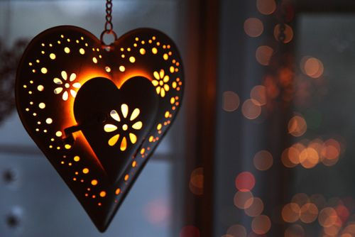 Heart lit from within decoration