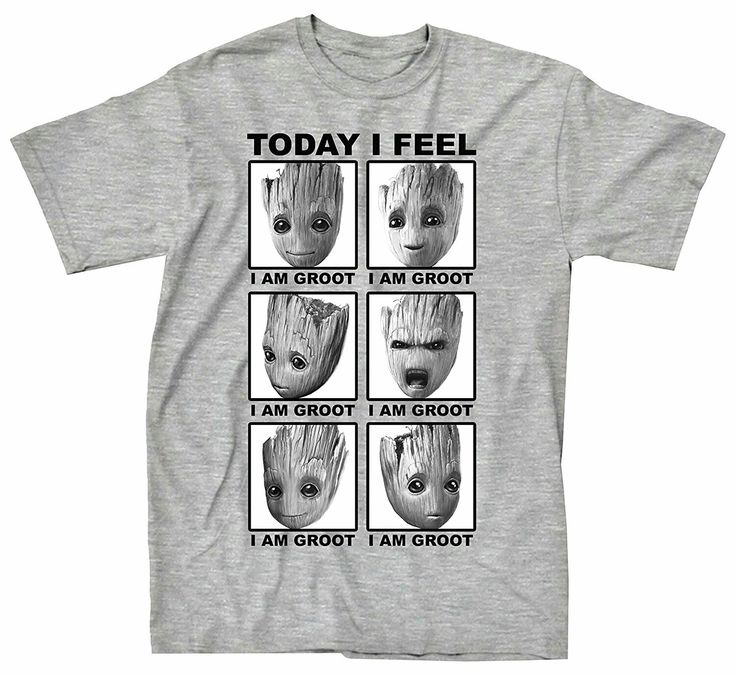 Marvel Guardians Of The Galaxy 2 Face Of Groot I Feel T-shirt (Large, Heather  Grey) Officially licensed Marvel Guardians Of The Galaxy T-shirt Standard  ...