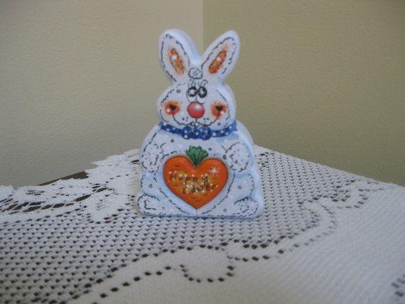 Hoppy Easter Bunny Love Chunk by WoodentItBeNice on Etsy