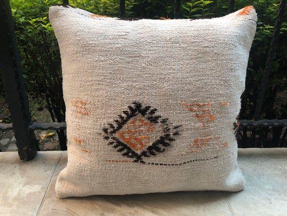 Kissen Bezug 20x20 Inches Hemp Pillow Cover Hand Made Pillow