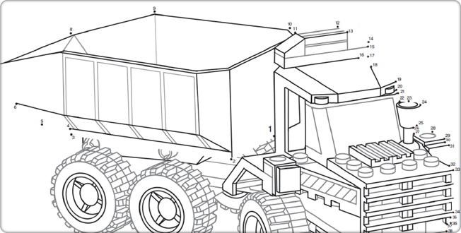 LEGO.com City : Downloads - Dot-to-Dot Drawings - Dot-to-Dot - Truck