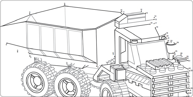 LEGO.com City : Downloads - Dot-to-Dot Drawings - Dot-to-Dot - Truck