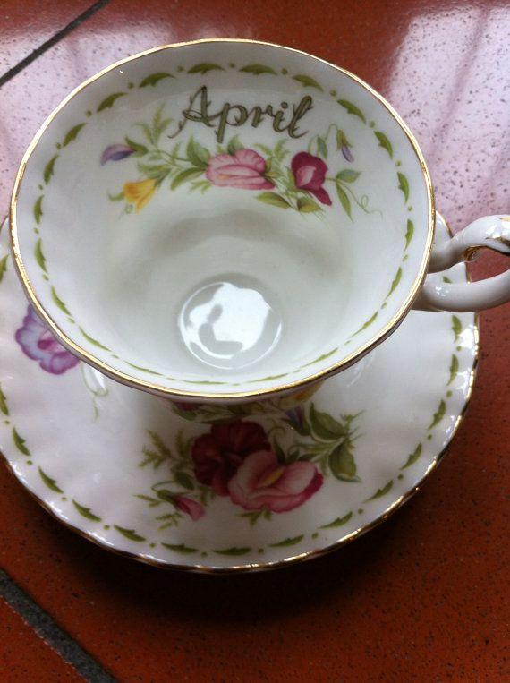 Vintage originale Royal Albert Flower di piselli di Santalvenerdi