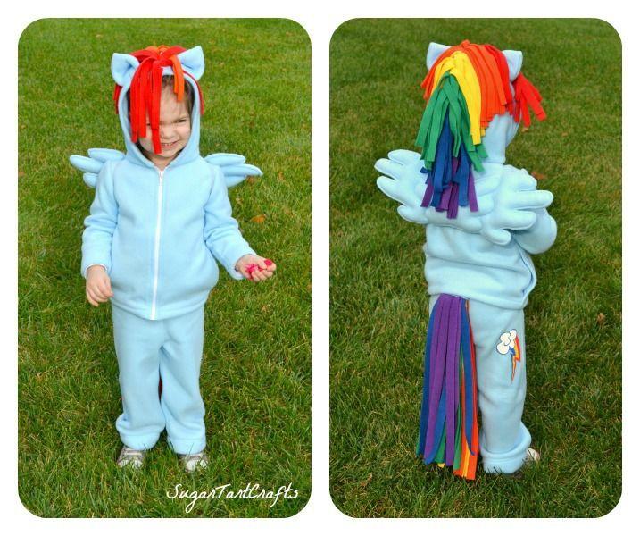 My Little Pony Rainbow Dash Hoodie Costume