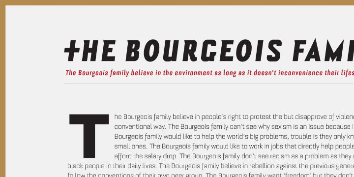 Bourgeois Bold Font Preview