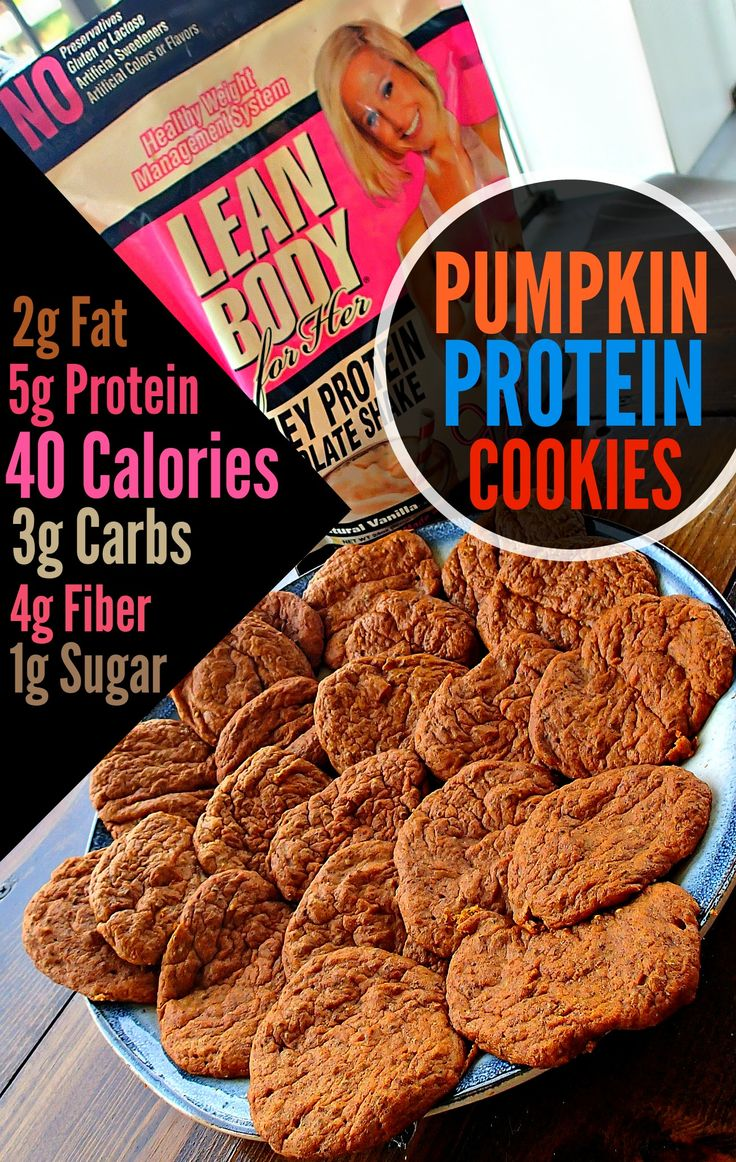 Low Carb/40 Calorie Pumpkin Protein Cookies - OMG I so going to try this.