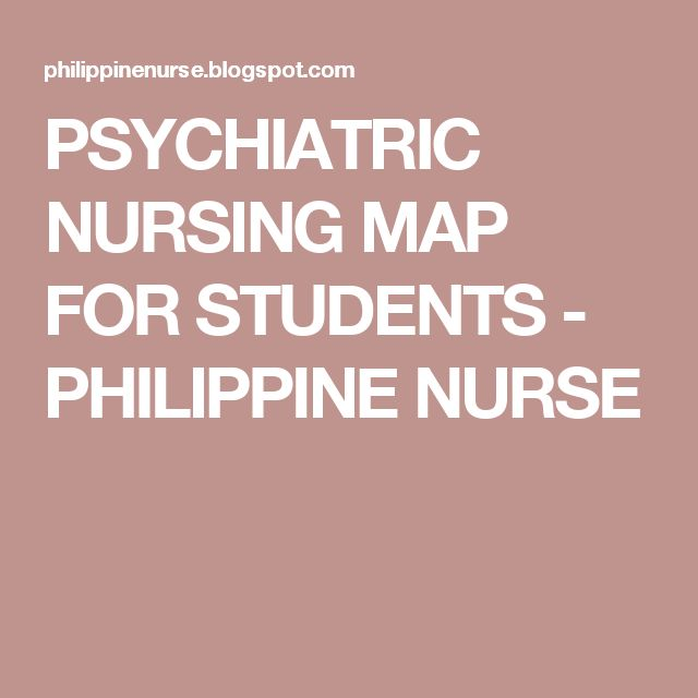 PSYCHIATRIC NURSING MAP FOR STUDENTS - PHILIPPINE NURSE