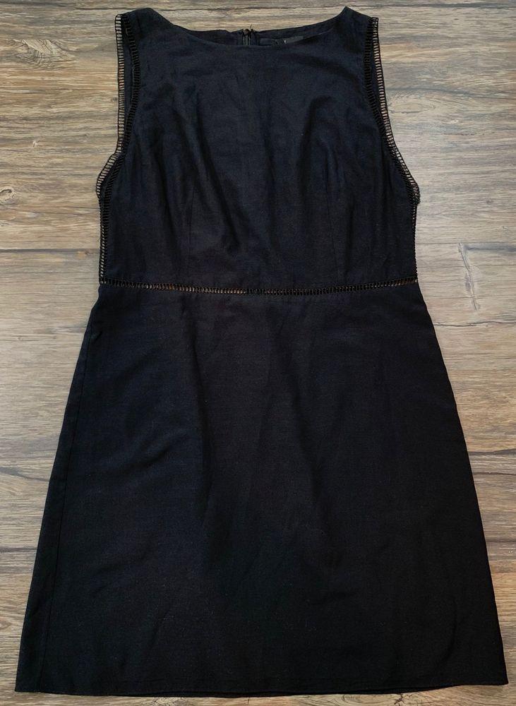 Tibi New York Dress Sheath Black Sleeveless Womens Sz 6 Ebay