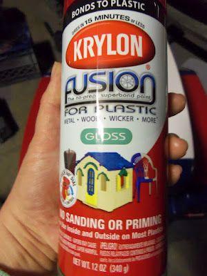 DIY Project: Spray Paint Plastic Outdoor Toys like Little Tikes stuff...