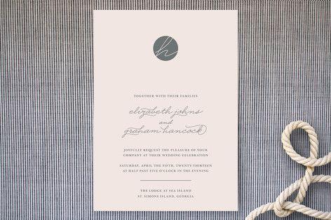 Wedding Invitations for Rose Gold & Blush Pink Wedding