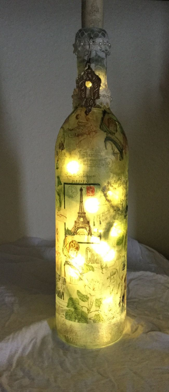 Decorative Wine Bottle Light W Led Battery Operatted