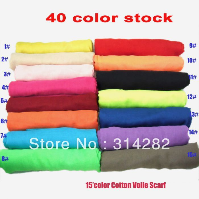 2013 NEW  plain pure Color womens 100% viscose Scarf /Shawl/hijab/muslim long wrap popular 180*100cm 10pcs/lot-in Scarves from Apparel & Acc...