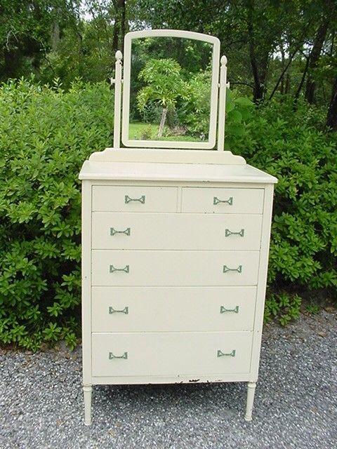 Best Antique 1930 S Simmons Metal Dresser With Mirror 640 x 480