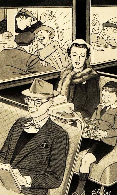 Comfort is Our Business - detail from 1951 Heywood Wakefield ad.