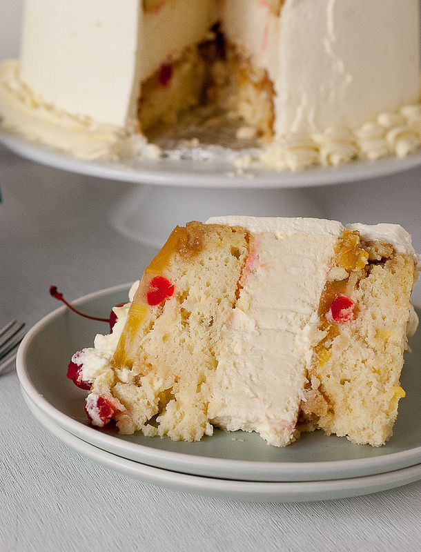 Three Layer Pineapple Upside Down Cheesecake Cake Www Pineappleandcoconut Com Not So Much The