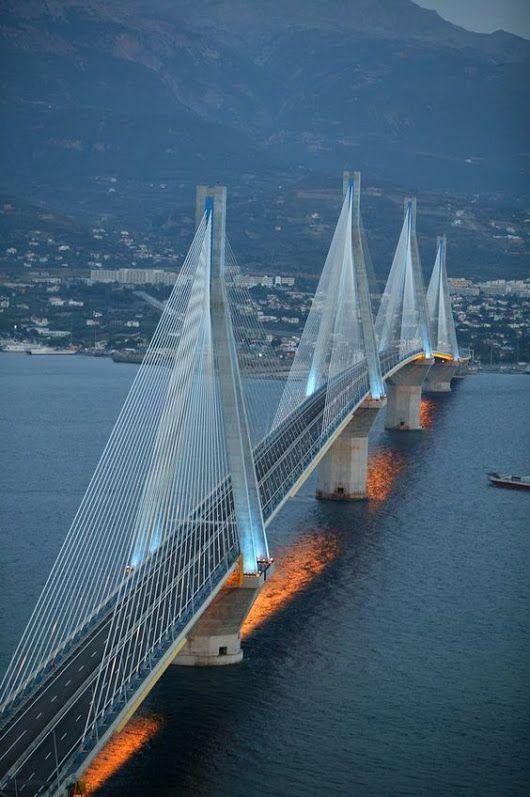 The Rio-Antirrio Bridge, Patras, Greece
