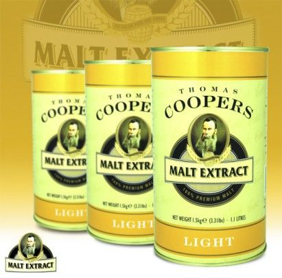 COOPERS LIGHT MALT EXTRACT 1.5KG