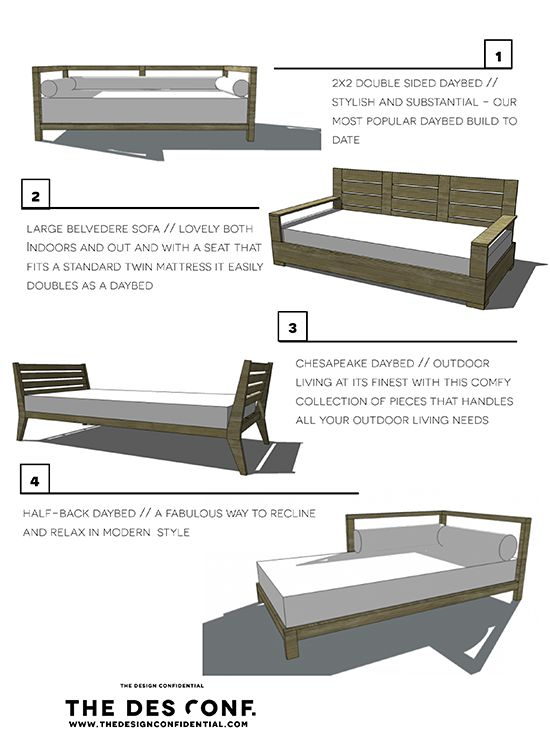 Four DIY Outdoor Daybeds to Liven up Your Outdoor Living Space | The Design Confidential