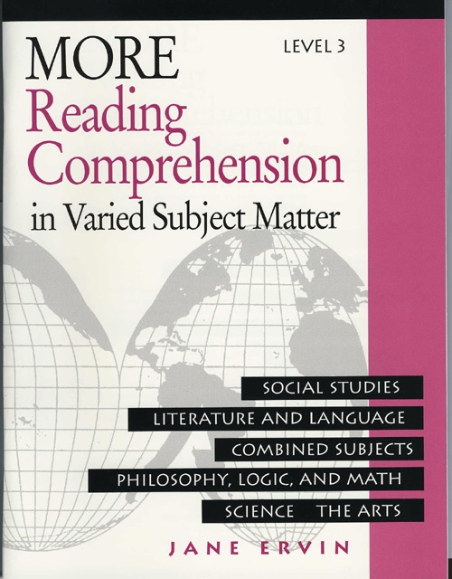 This series is specifically targeted for junior high and high school students who need more practice in reading comprehension skills. Each book contains 25 selections and has the same format of multiple topics as Reading Comprehension. Exercises develop students' skills in finding the main idea, identifying facts, following sequences, drawing conclusions and making assumptions.